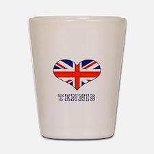 LOVE TENNIS union jack Shot Glass