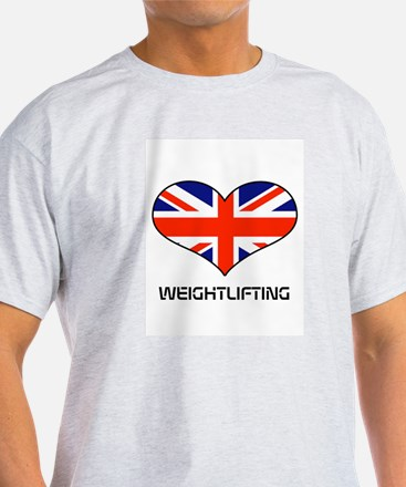 LOVE WEIGHTLIFTING Union Jack T-Shirt