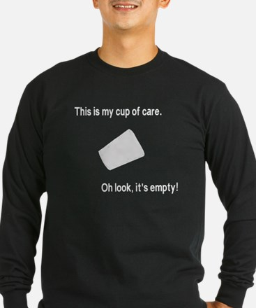 This is my cup of care, oh look its empty T