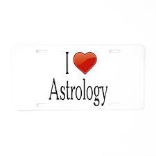 I Love Astrology Aluminum License Plate