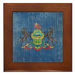 Vintage Pennsylvania Flag Framed Tile