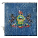 Vintage Pennsylvania Flag Shower Curtain