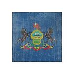 Vintage Pennsylvania Flag Square Sticker 3