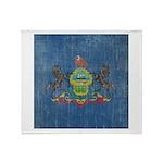 Vintage Pennsylvania Flag Throw Blanket