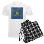 Vintage Pennsylvania Flag Men's Light Pajamas