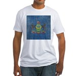 Vintage Pennsylvania Flag Fitted T-Shirt