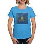 Vintage Pennsylvania Flag Women's Dark T-Shirt