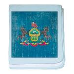 Vintage Pennsylvania Flag baby blanket