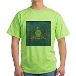 Vintage Pennsylvania Flag Green T-Shirt