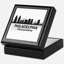 Pennsylvania Philadelphia Skyline Keepsake Box