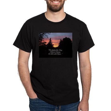 Sunset Splendor Black T-Shirt
