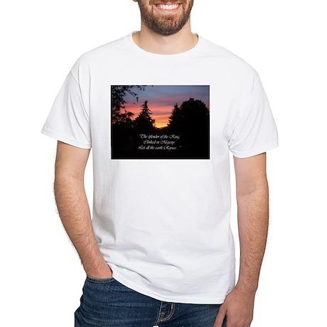 Sunset Splendor White T-Shirt