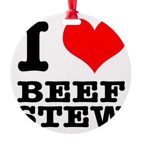 BEEF STEW.png Round Ornament