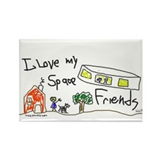 Space Friends Rectangle Magnet