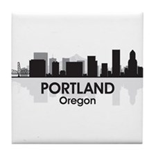 Portland Skyline Tile Coaster