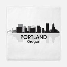 Portland Skyline Queen Duvet