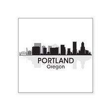 """Portland Skyline Square Sticker 3"""" x 3"""""""