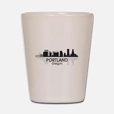 Portland Skyline Shot Glass