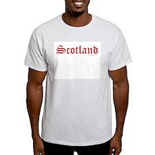 Scotland (Red) - Ash Grey T-Shirt