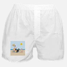 Cute Flamingo Boxer Shorts