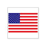 USA flag Square Sticker 3