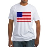 USA flag Fitted T-Shirt