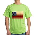 USA flag Green T-Shirt
