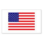 USA flag Sticker (Rectangle 10 pk)