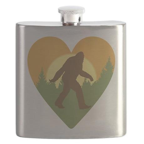 Bigfoot Love Flask