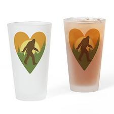 Bigfoot Love Drinking Glass