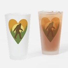 Bigfoot Love Drinking Glass