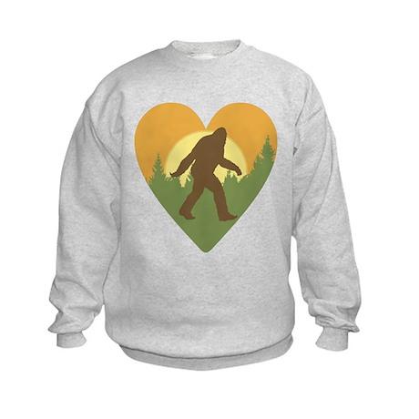Bigfoot Love Kids Sweatshirt