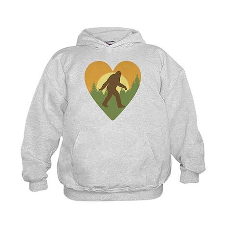 Bigfoot Love Kids Hoodie