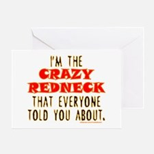 CRAZY REDNECK Greeting Card