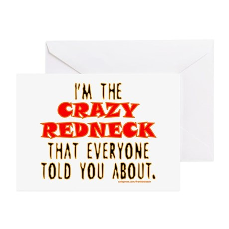 CRAZY REDNECK Greeting Cards (Pk of 10)