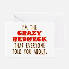 CRAZY REDNECK Greeting Cards (Pk of 20)