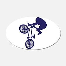 BMX Biker 22x14 Oval Wall Peel