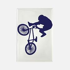 BMX Biker Rectangle Magnet