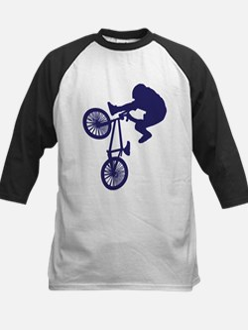 BMX Biker Kids Baseball Jersey