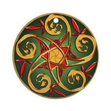 Celtic Pentacle Spiral Ornament (Round)
