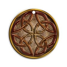 Celtic Knotwork Enamel Ornament (Round)