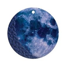 Celtic Blue Moon Ornament (Round)