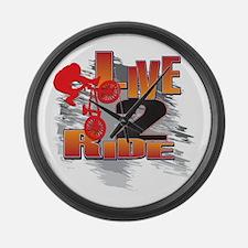 BMX Bike Rider/Live to Ride Large Wall Clock