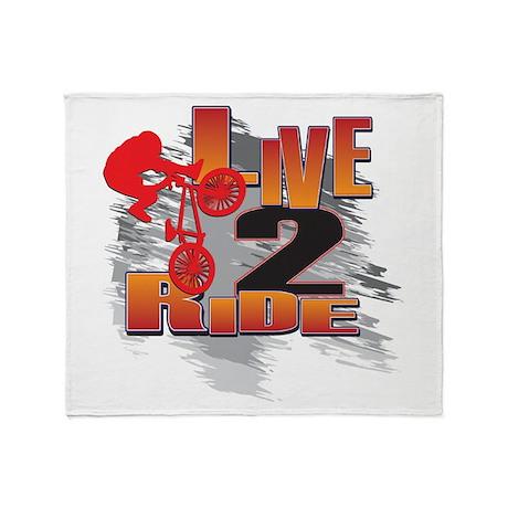 BMX Bike Rider/Live to Ride Throw Blanket