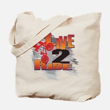 BMX Bike Rider/Live to Ride Tote Bag