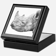 Black Rhino Keepsake Box