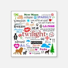 "Twilight Memories Square Sticker 3"" x 3"""