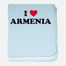 I Love Armenia baby blanket