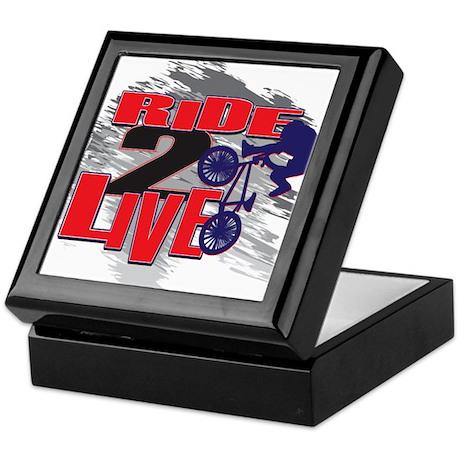 BMX Bike Rider/Ride to Live Keepsake Box