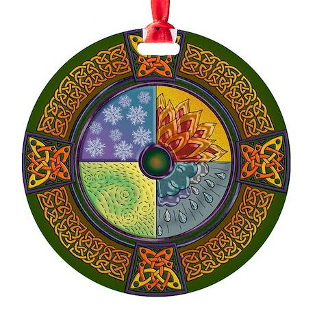 Celtic Elements Round Ornament